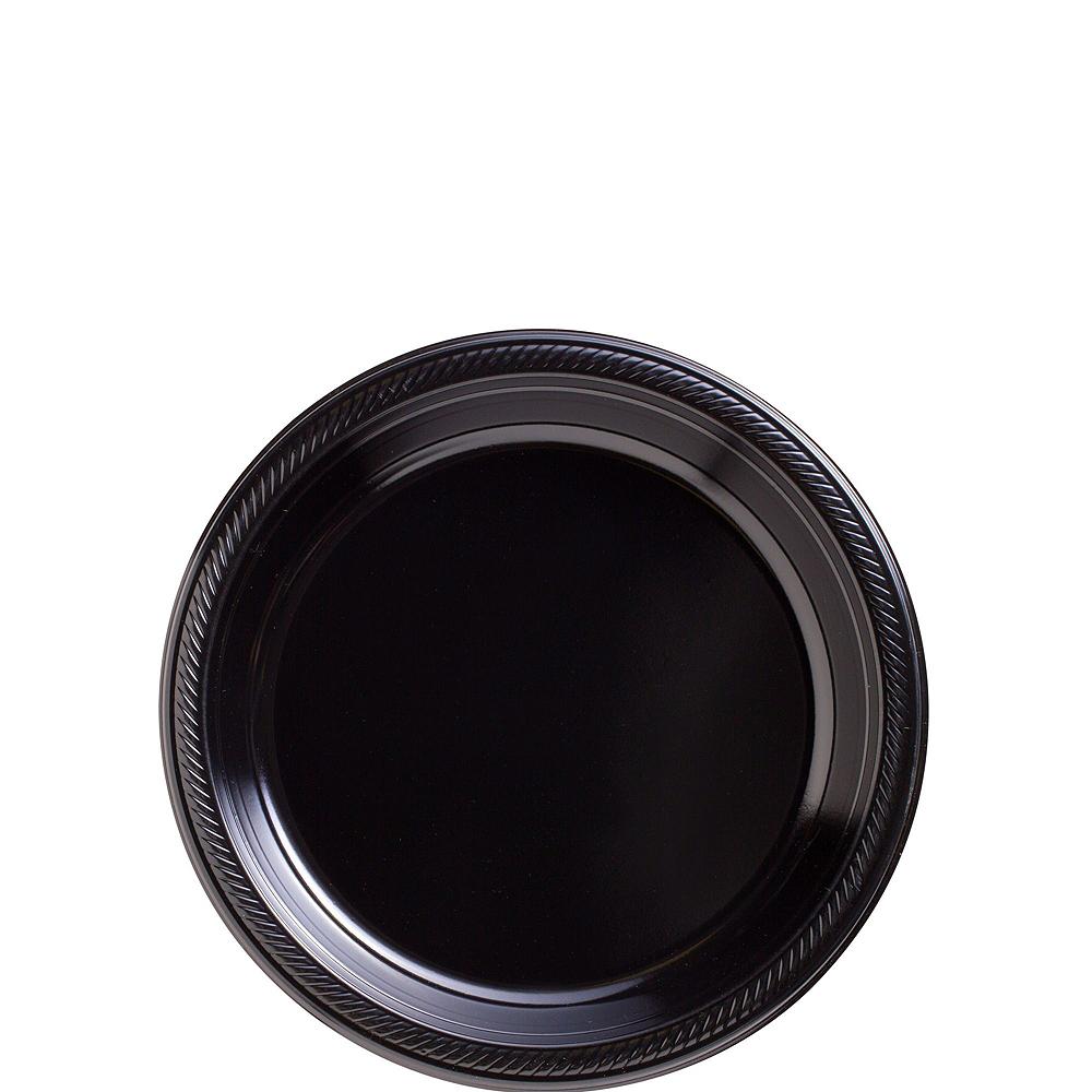 Gold & Black Plastic Tableware Kit for 50 Guests Image #2