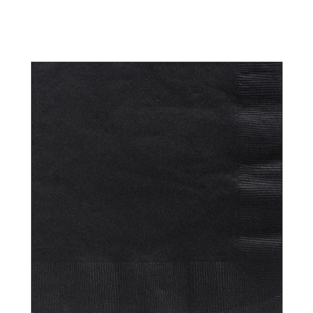 Gold & Black Plastic Tableware Kit for 50 Guests Image #4