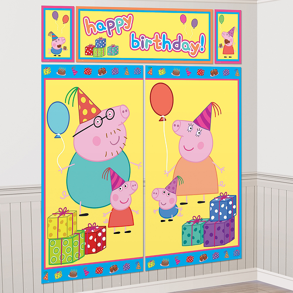 Peppa Pig Scene Setter with Photo Booth Props Image #2