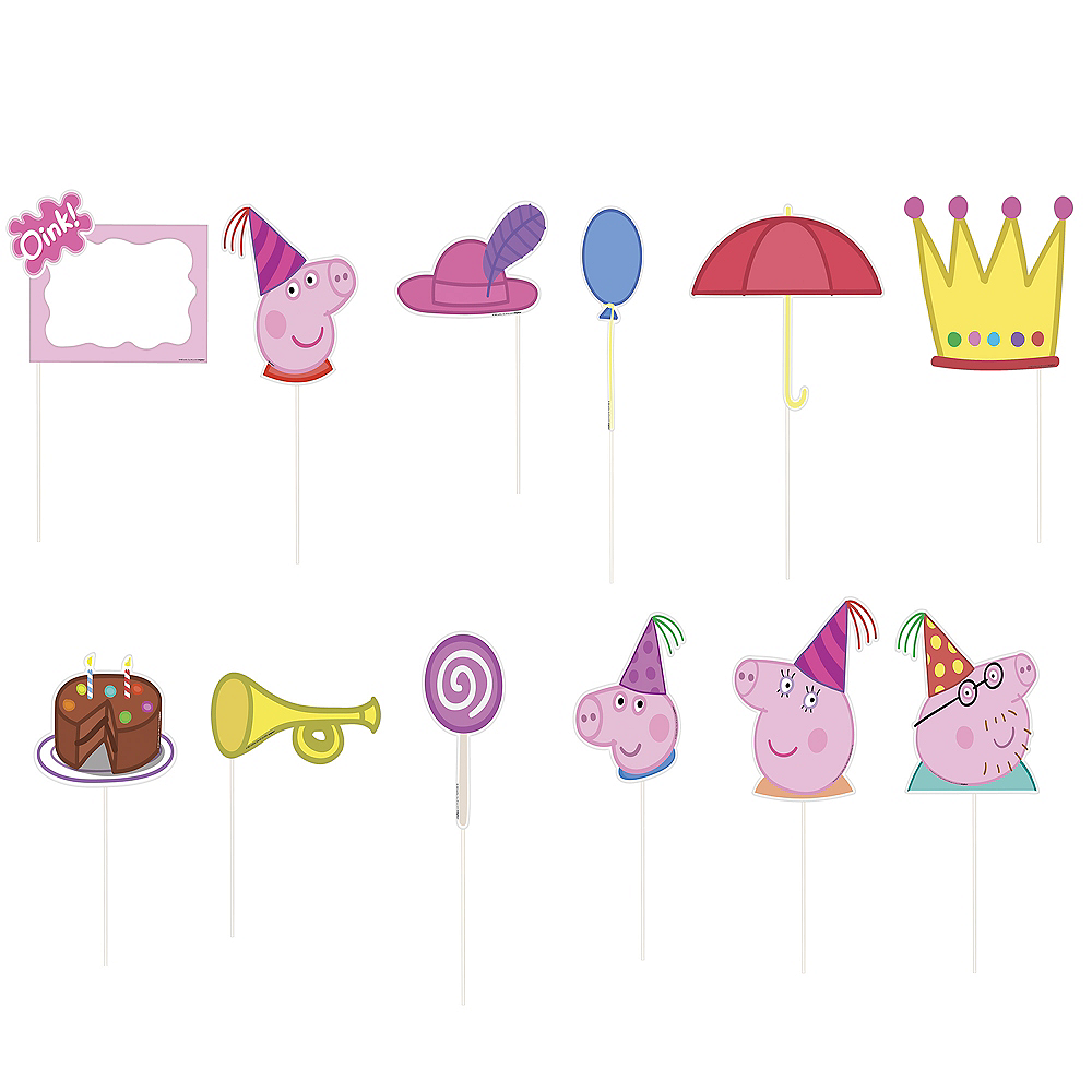 Peppa Pig Birthday Party Scene Setter Wall Decoration Kit Backdrop With Props