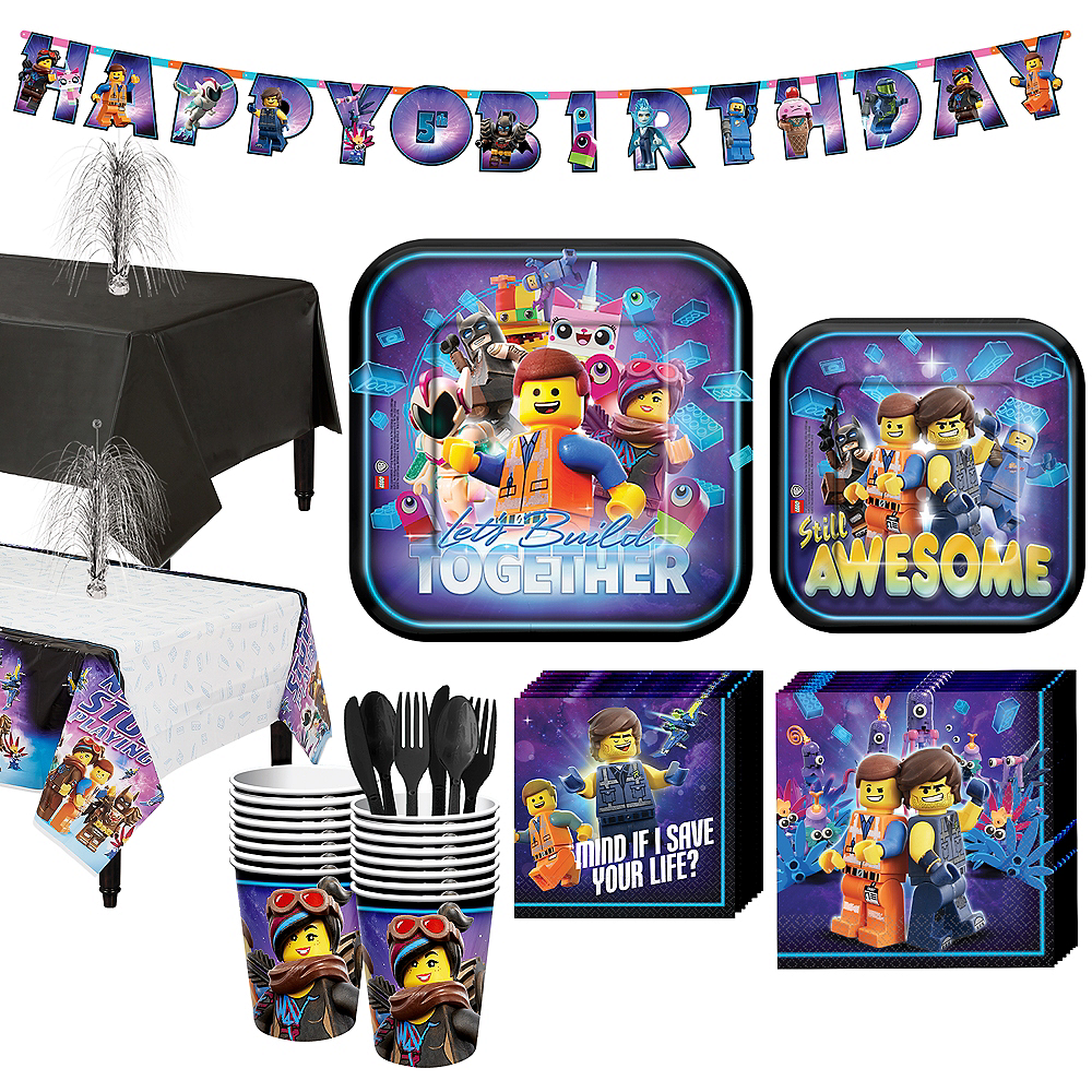 The LEGO Movie 2: The Second Part Tableware Kit for 16 Guests Image #1