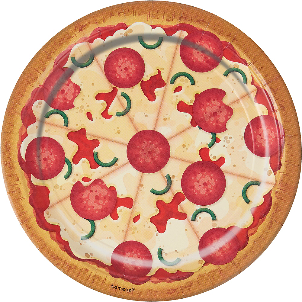 Pizza Party Lunch Plates 8ct Image #1