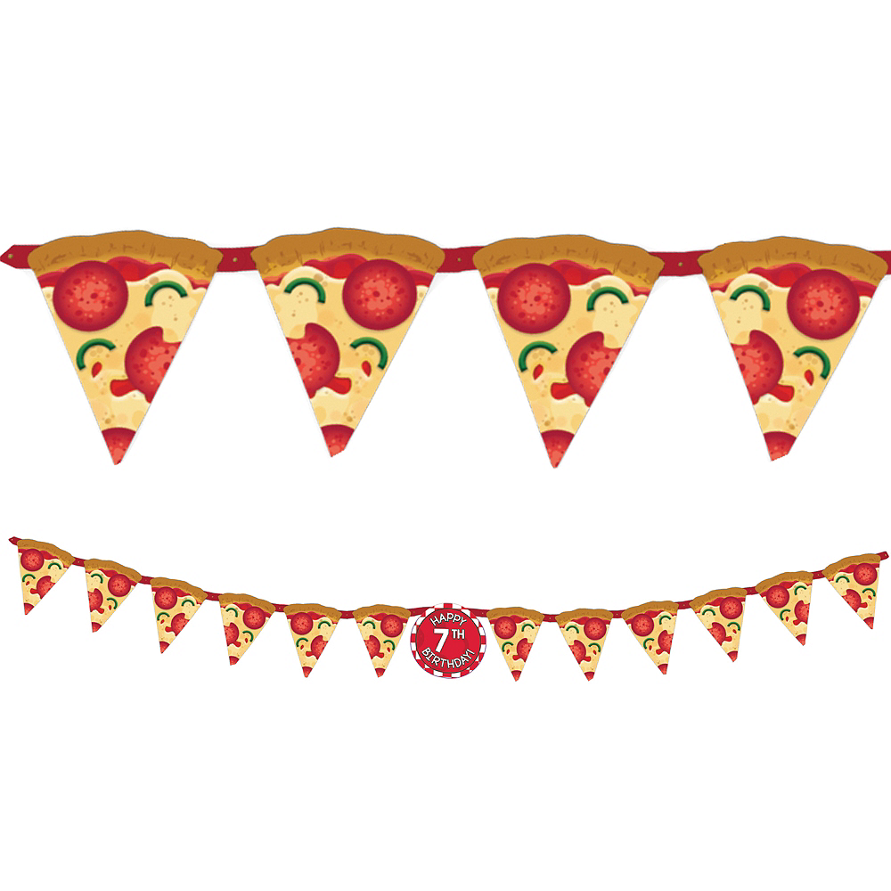 Pizza Party Birthday Banner Kit 10ft X 10in Party City