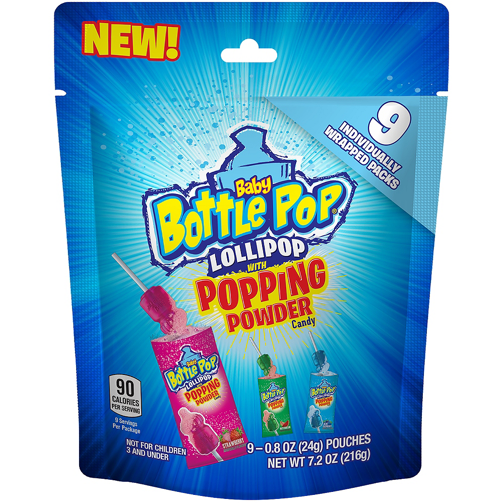 Baby Bottle Pop with Popping Powder 9ct Image #1