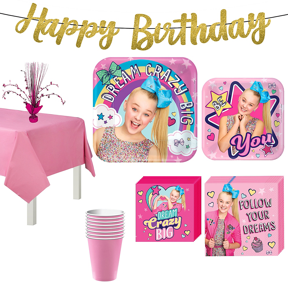 JoJo Siwa Basic Party Kit for 8 Guests Image #1