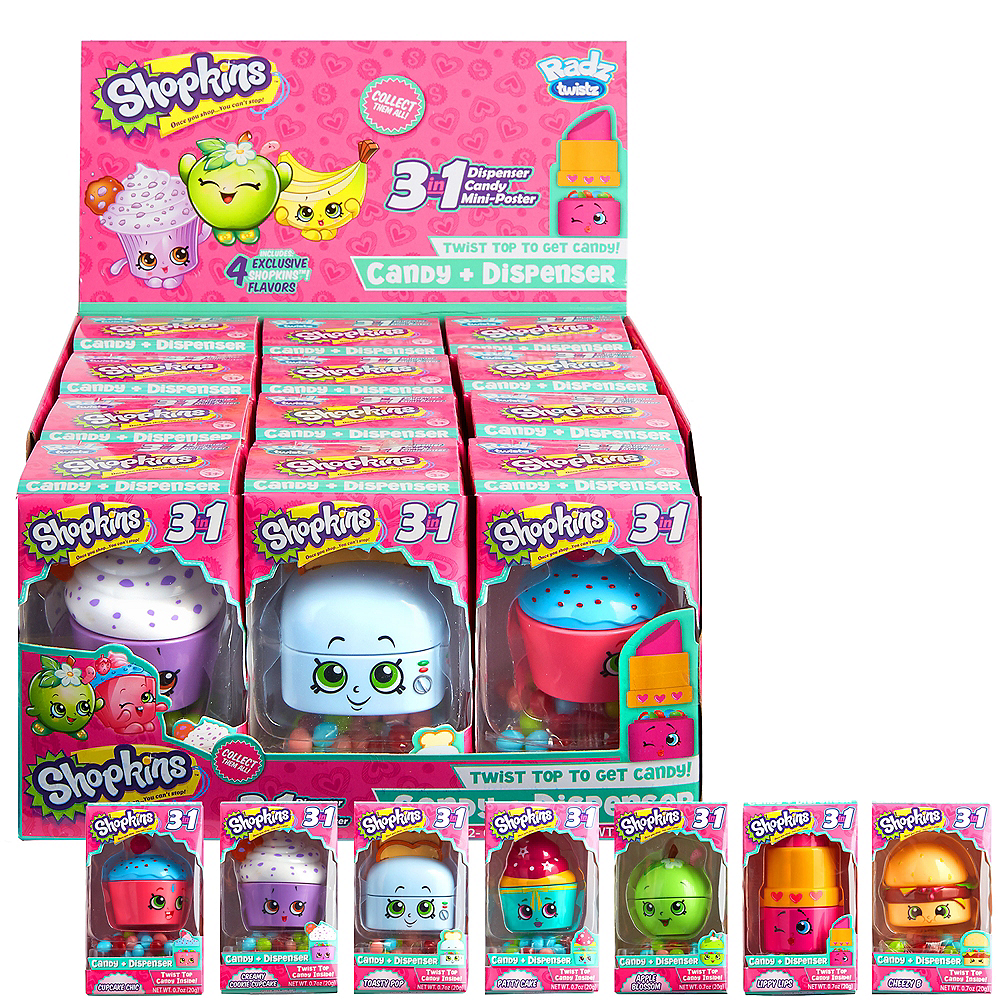 Shopkins Candy Dispenser 3 1/4in   Party City
