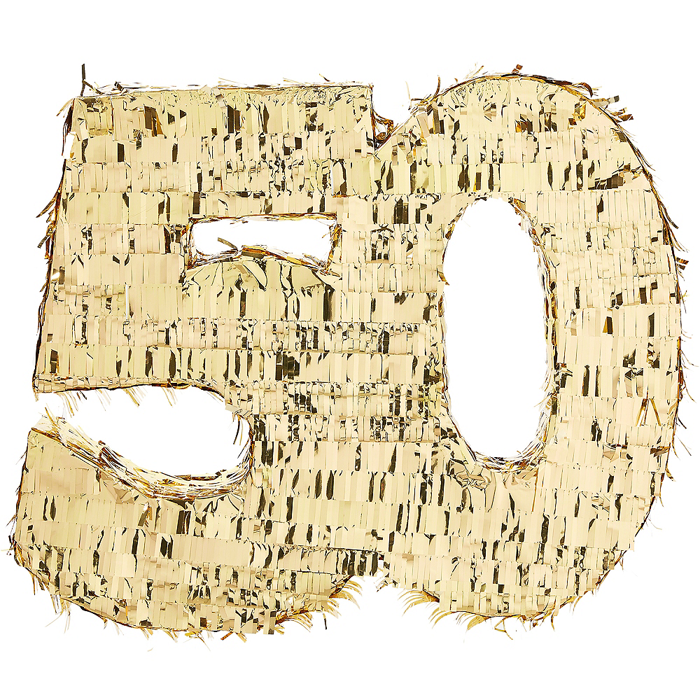 Metallic Gold 50 Pinata Image #1