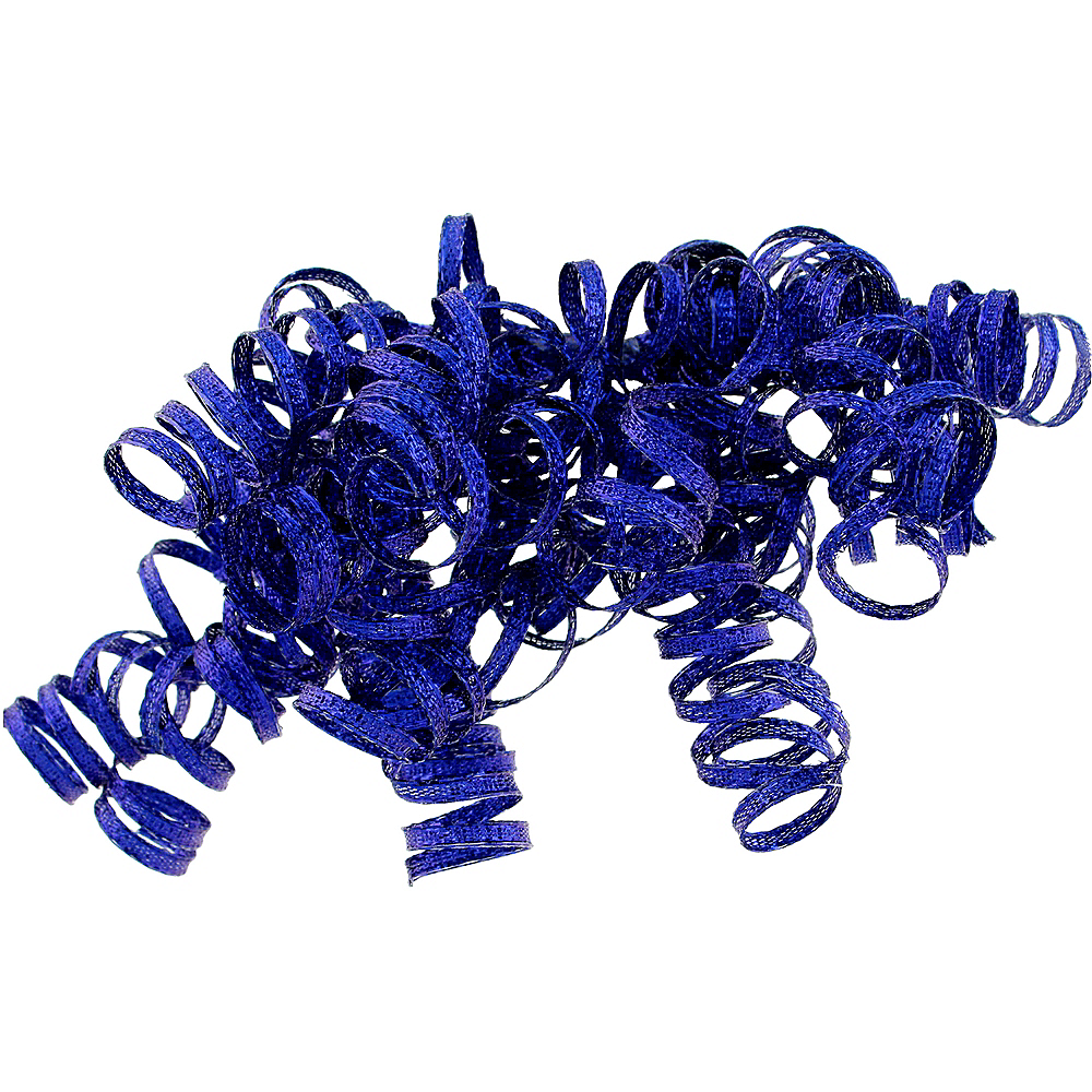 Glitter Blue Curled Gift Ribbons Image #1