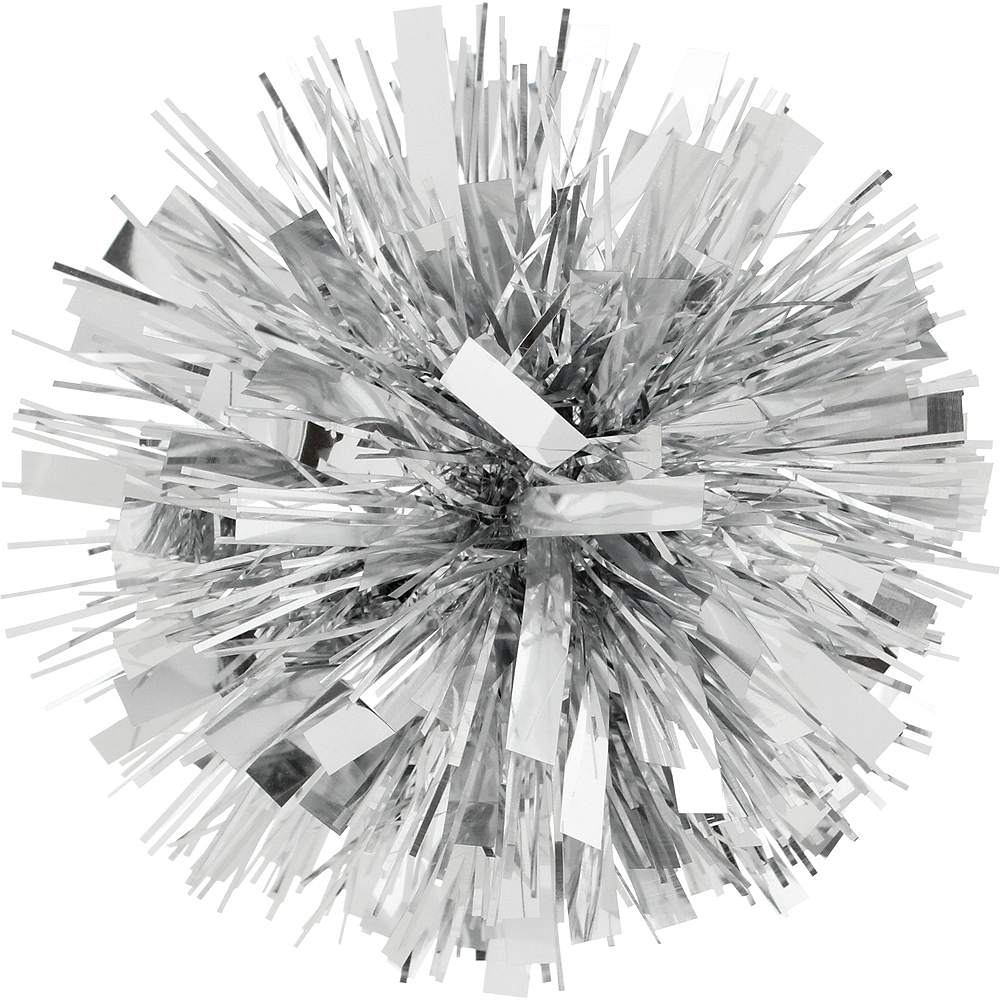 Silver Tinsel Gift Bow Image #1