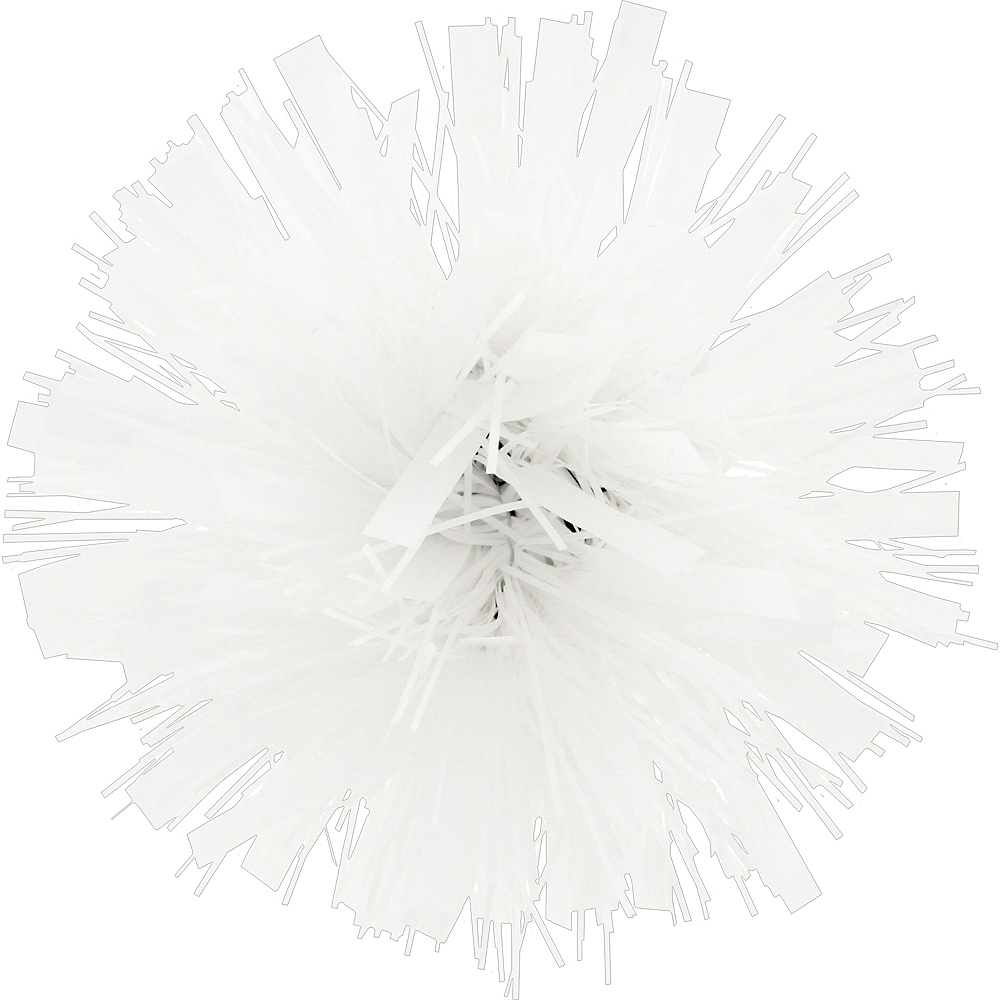 White Tinsel Gift Bow Image #1