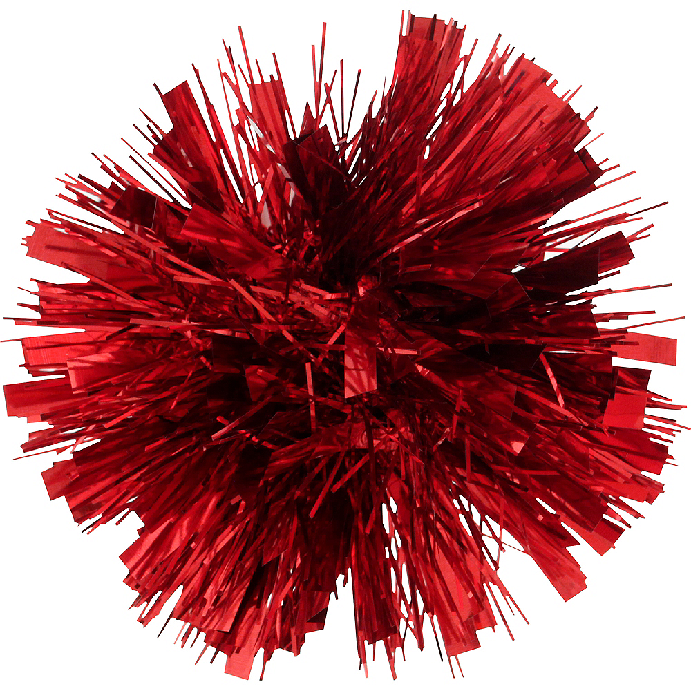 Nav Item for Red Tinsel Gift Bow Image #1