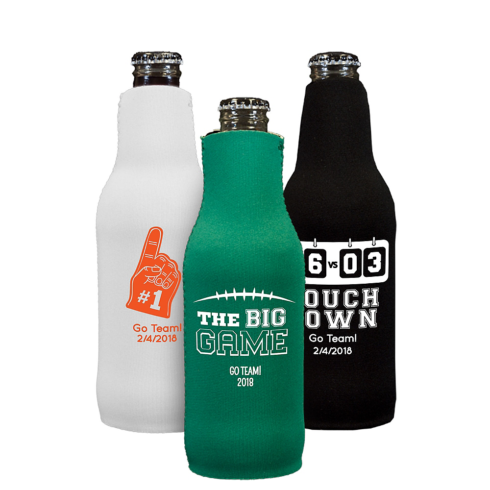 Personalized Football Bottle Huggers Image #1