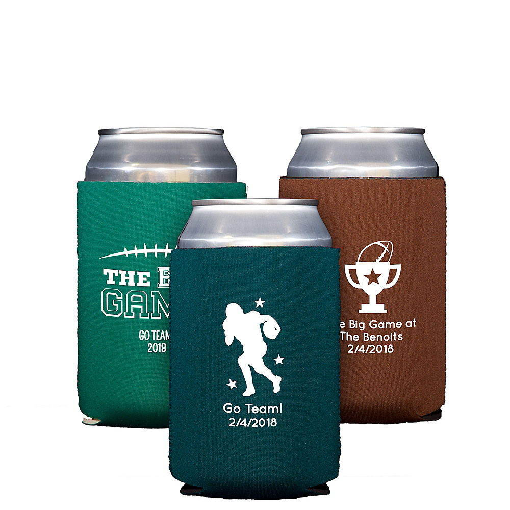Personalized Football Collapsible Can Coozies Image #1