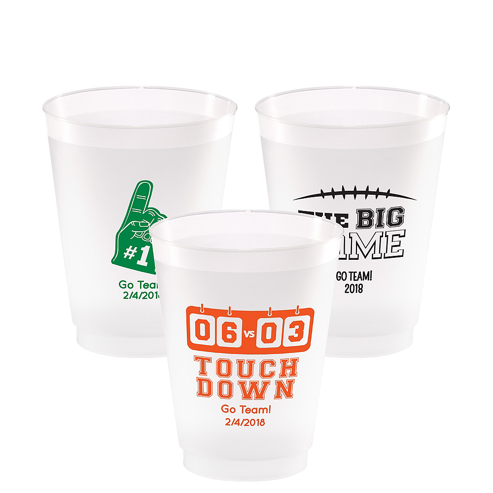 Personalized Football Plastic Shatterproof Cups 16oz Image #1