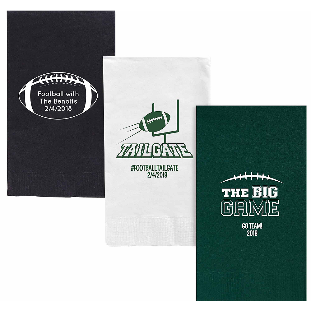 Personalized Football Guest Towels Image #1