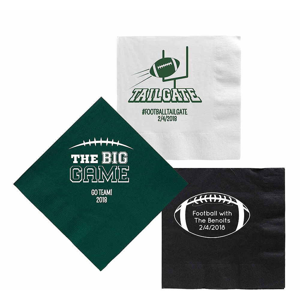 Personalized Football Lunch Napkins Image #1