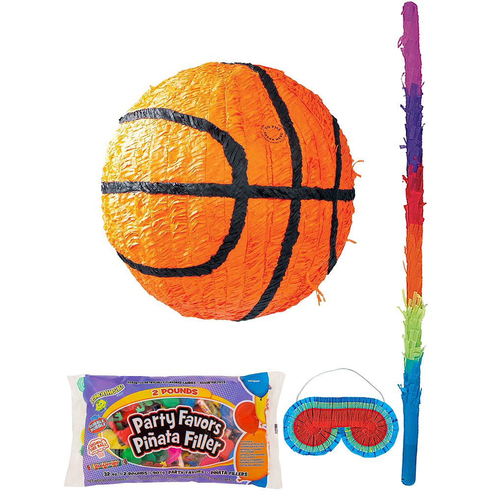 Basketball Pinata Kit with Candy & Favors Image #1