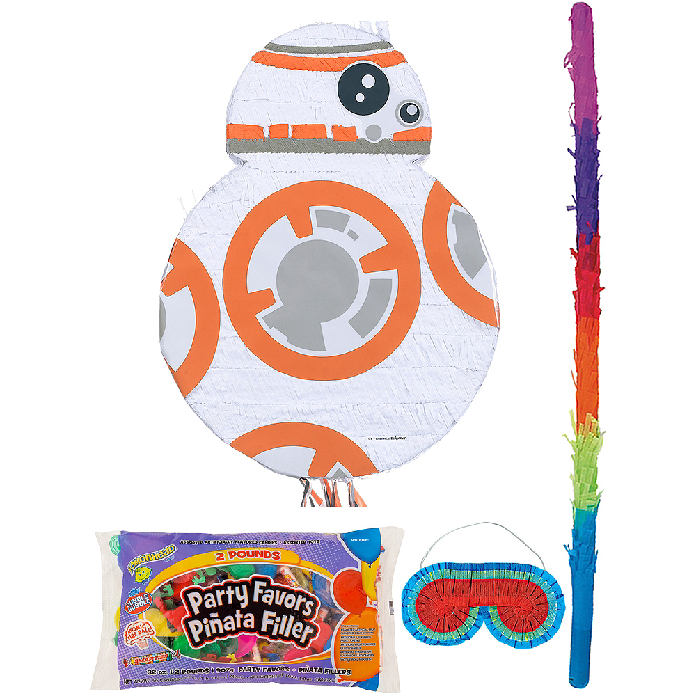 BB-8 Pinata Kit with Candy & Favors - Star Wars 7 The Force Awakens Image #1