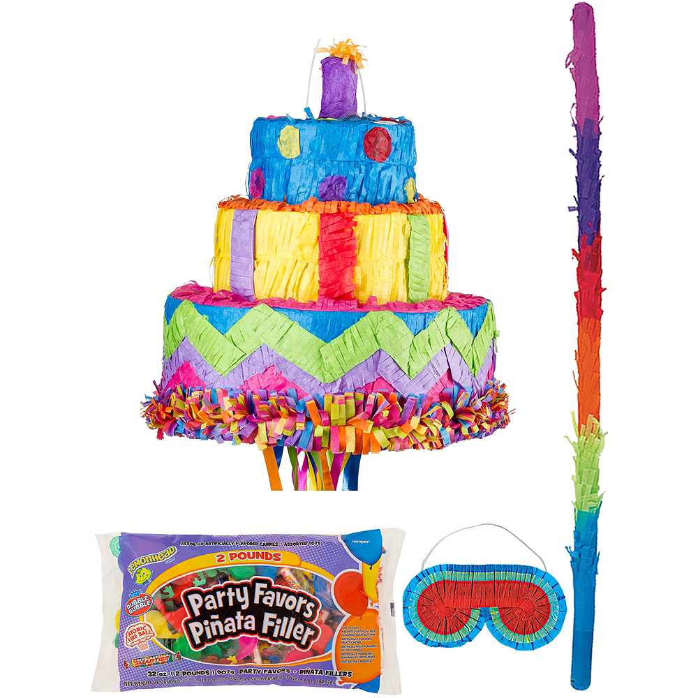 Birthday Cake Pinata Kit With Candy Favors Party City