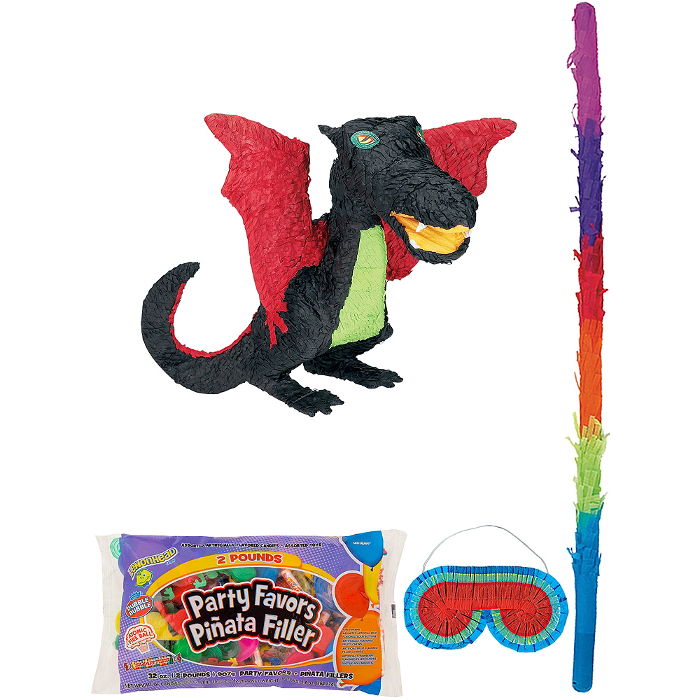 Black Dragon Pinata Kit with Candy & Favors Image #1