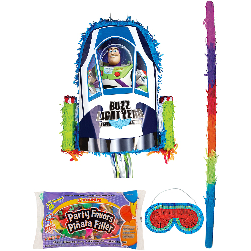 Nav Item for Buzz Lightyear Pinata Kit with Candy & Favors - Toy Story Image #1