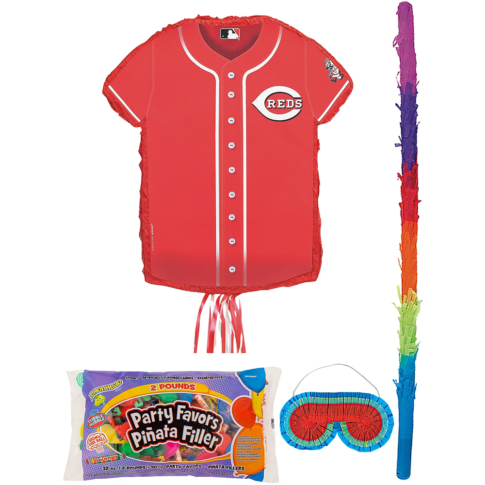 Cincinnati Reds Pinata Kit with Candy & Favors Image #1