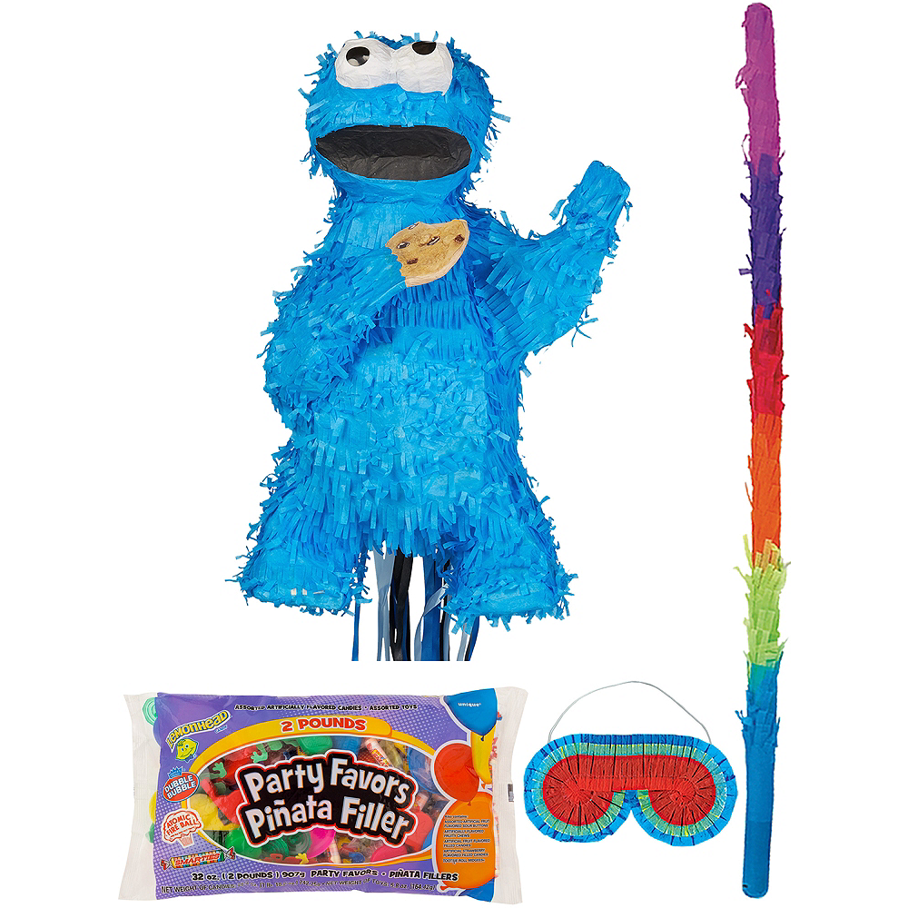 Cookie Monster Pinata Kit with Candy & Favors Image #1
