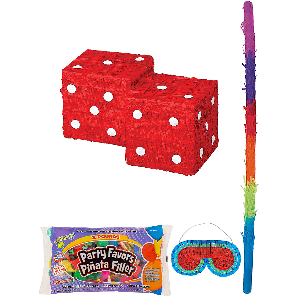 Dice Pinata Kit with Candy & Favors Image #1