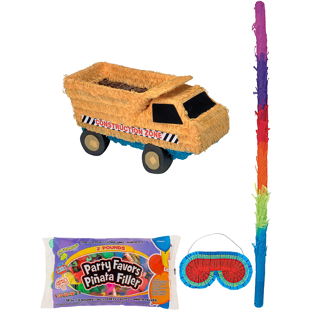 Dump Truck Pinata Kit with Candy & Favors Image #1