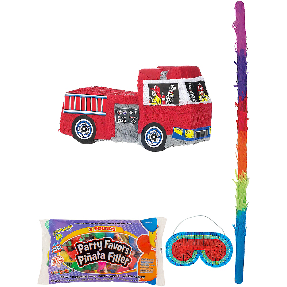 Fire Engine Pinata Kit with Candy & Favors Image #1