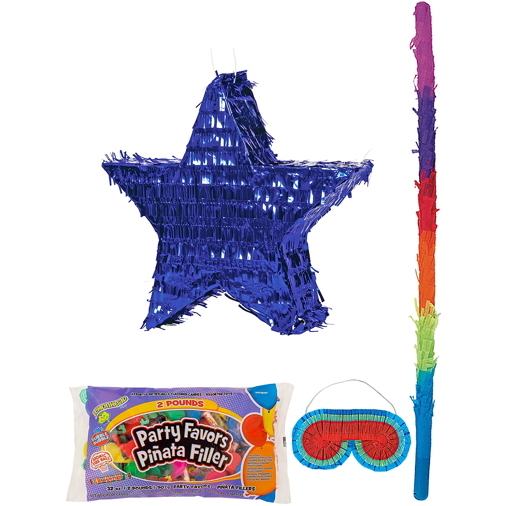 Foil Blue Star Pinata Kit with Candy & Favors Image #1