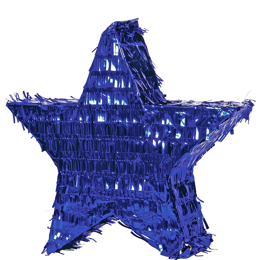 Foil Blue Star Pinata Kit with Candy & Favors Image #2