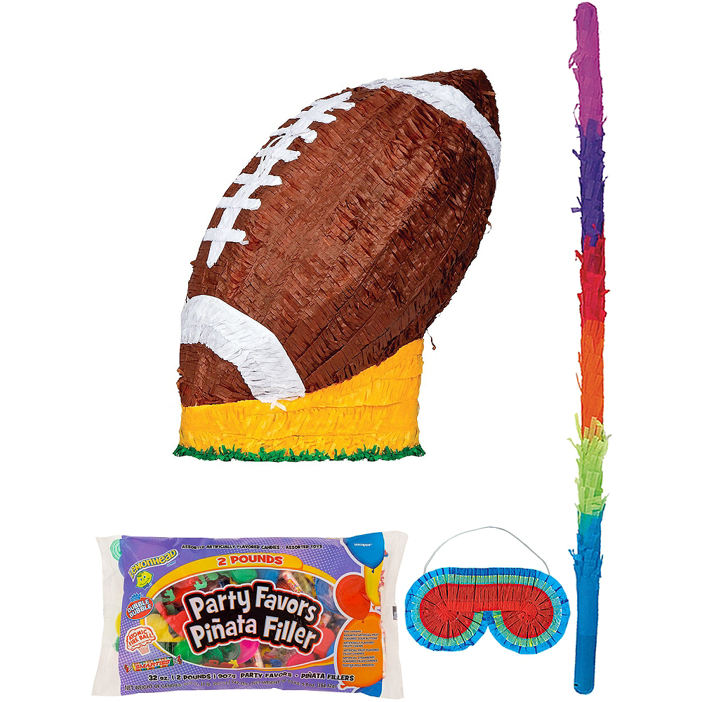 Football Pinata Kit with Candy & Favors Image #1