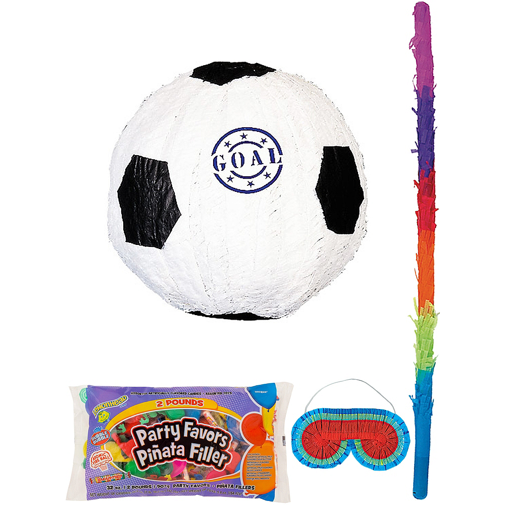 Goal Soccer Ball Pinata Kit with Candy & Favors Image #1