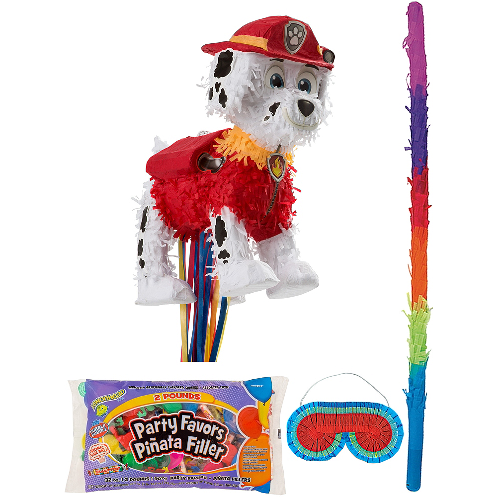 Marshall Pinata Kit with Candy & Favors - PAW Patrol Image #1