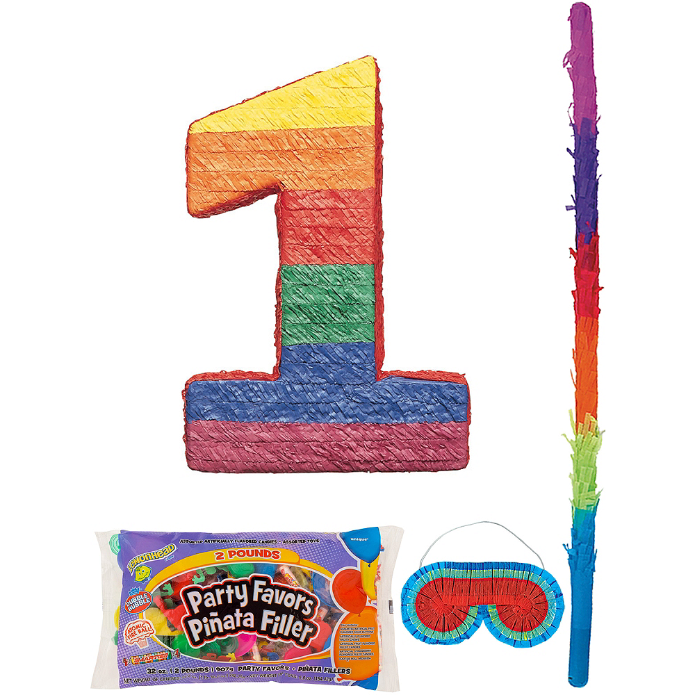 Number 1 Pinata Kit with Candy & Favors Image #1