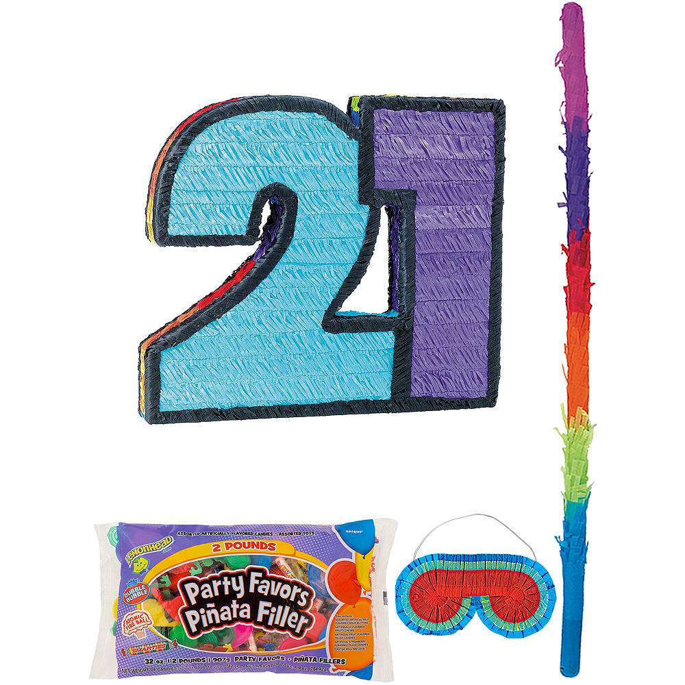 Number 21 Pinata Kit with Candy & Favors Image #1