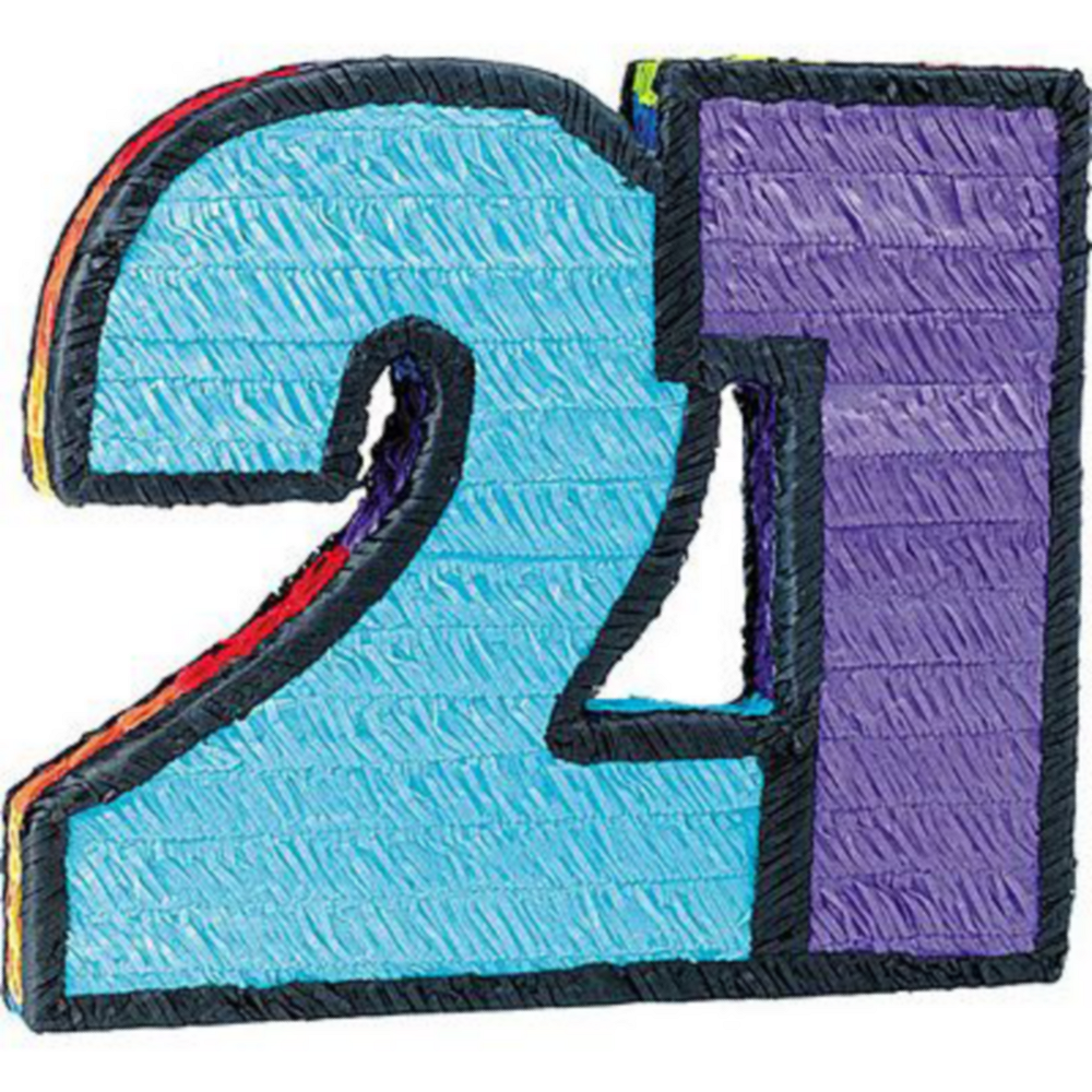 Number 21 Pinata Kit with Candy & Favors Image #2