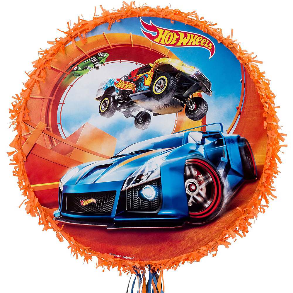 Orange Hot Wheels Pinata Kit with Candy & Favors Image #2