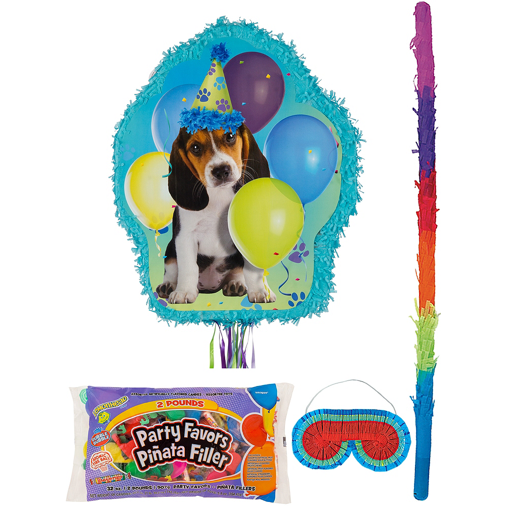 Party Pups Pinata Kit with Candy & Favors Image #1