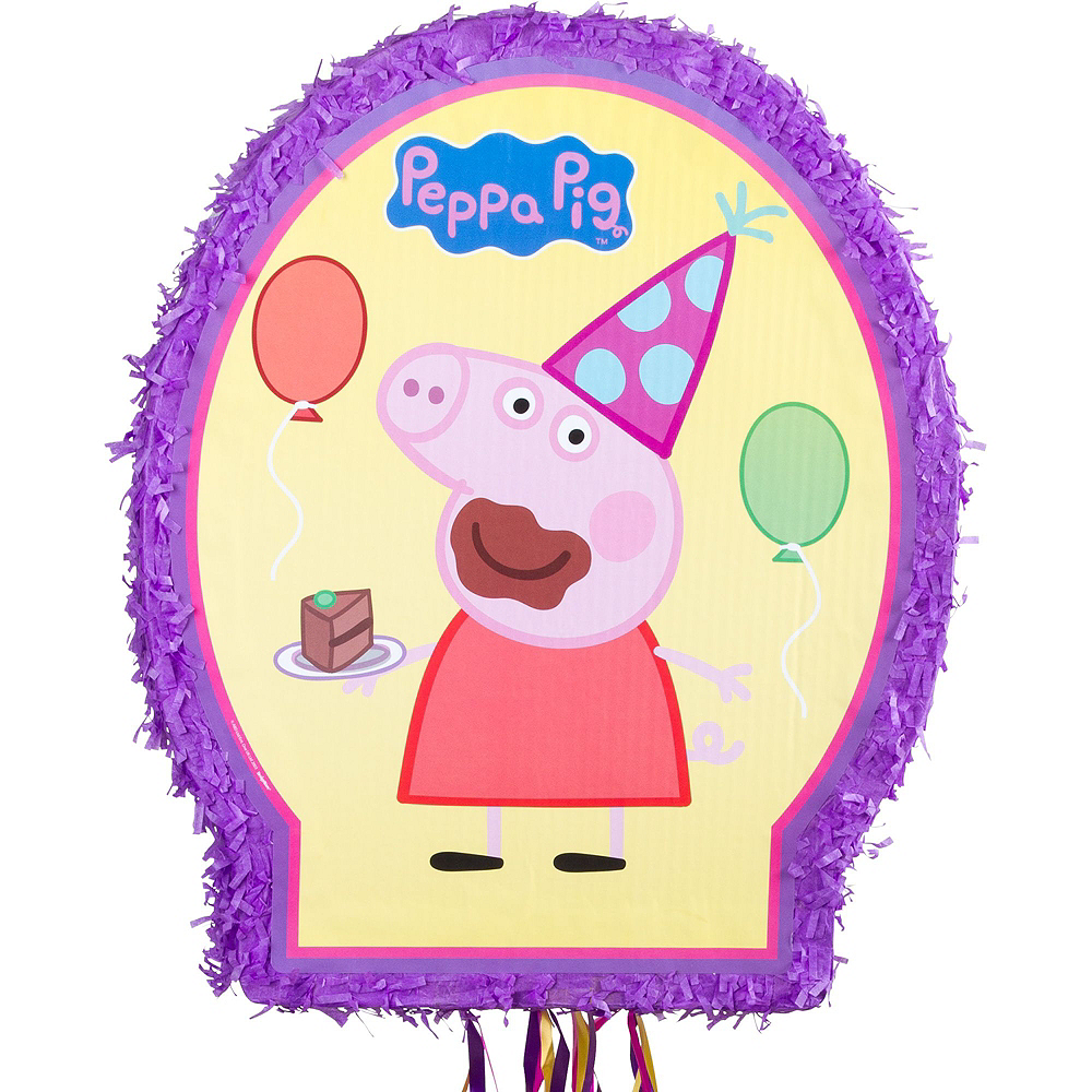 Outline Peppa Pig Pinata Kit with Candy & Favors Image #2