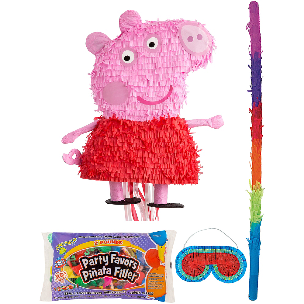 Peppa Pig Pinata Kit with Candy & Favors Image #1
