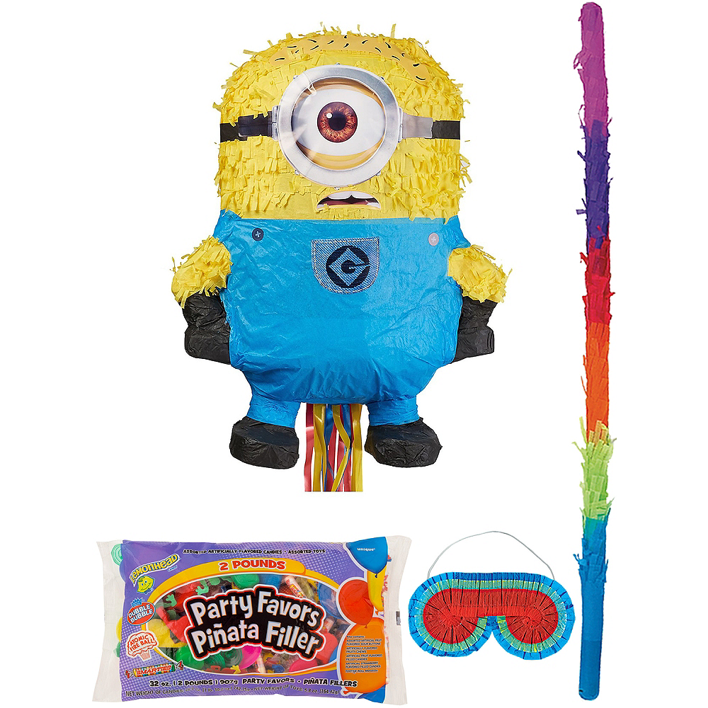 Phil Minion Pinata Kit with Candy & Favors - Despicable Me 2 Image #1