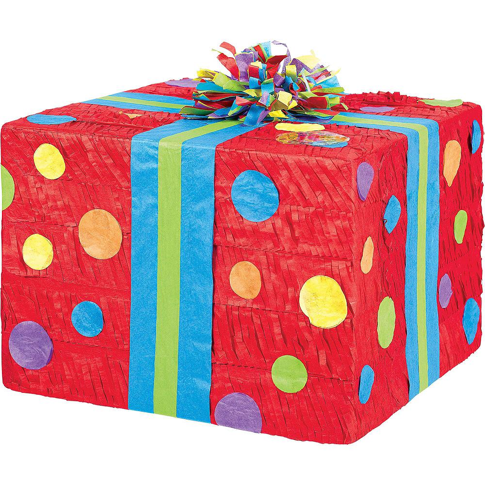 Polka Dot Present Pinata Kit with Candy & Favors Image #2