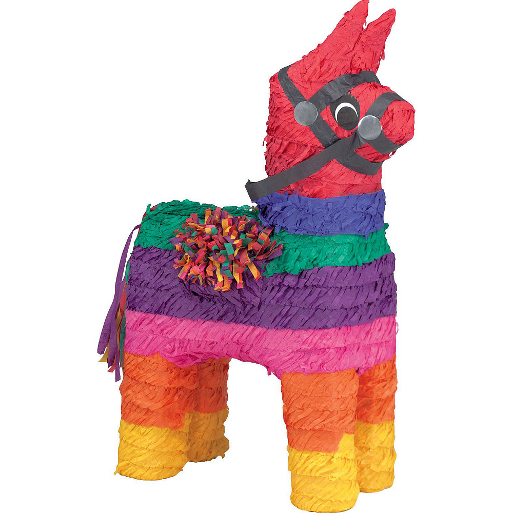 Rainbow Donkey Pinata Kit with Candy & Favors Image #2