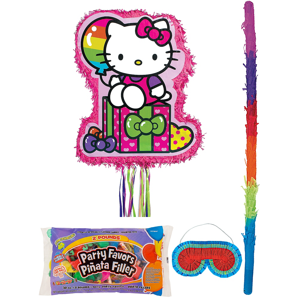 Rainbow Hello Kitty Pinata Kit with Candy & Favors Image #1