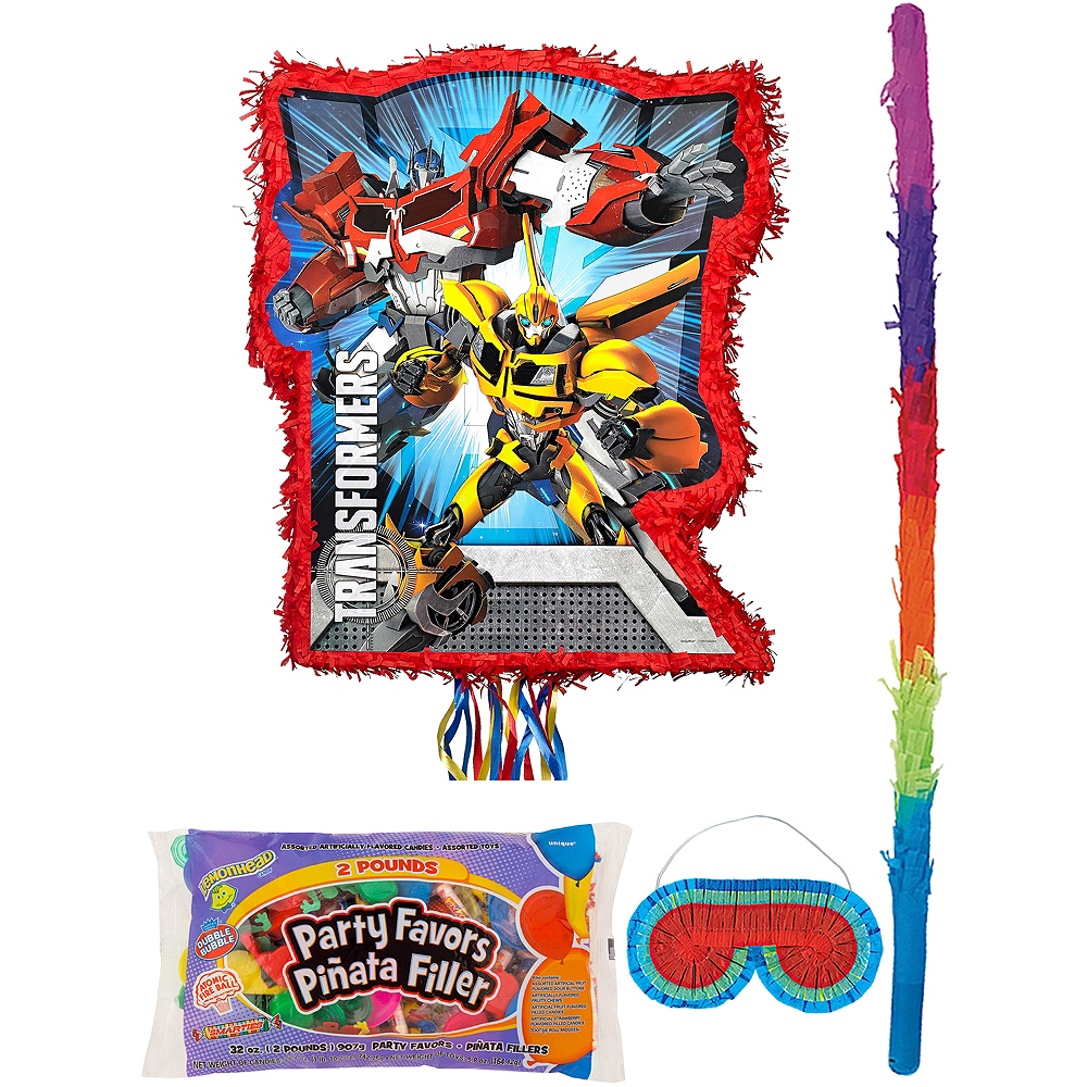 Red Transformers Pinata Kit with Candy & Favors Image #1