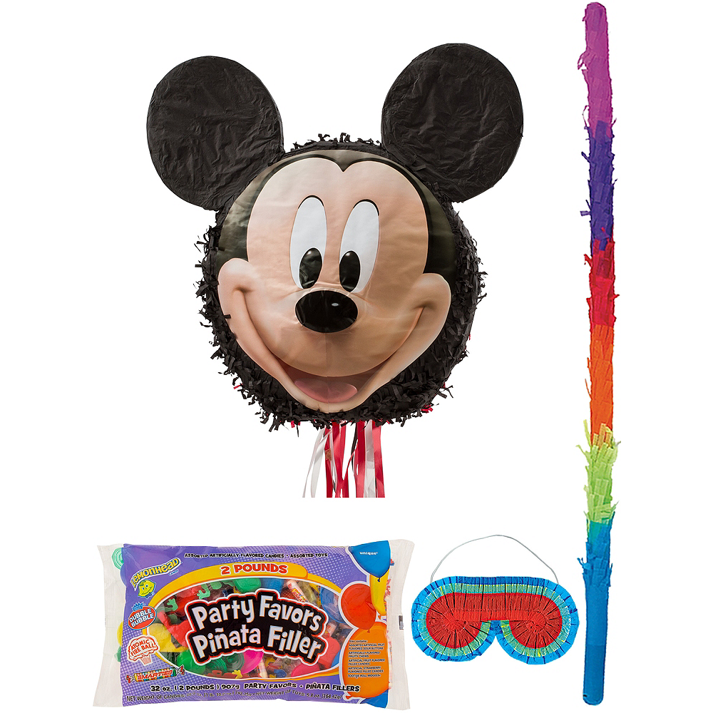 Smiling Mickey Mouse Pinata Kit with Candy & Favors Image #1