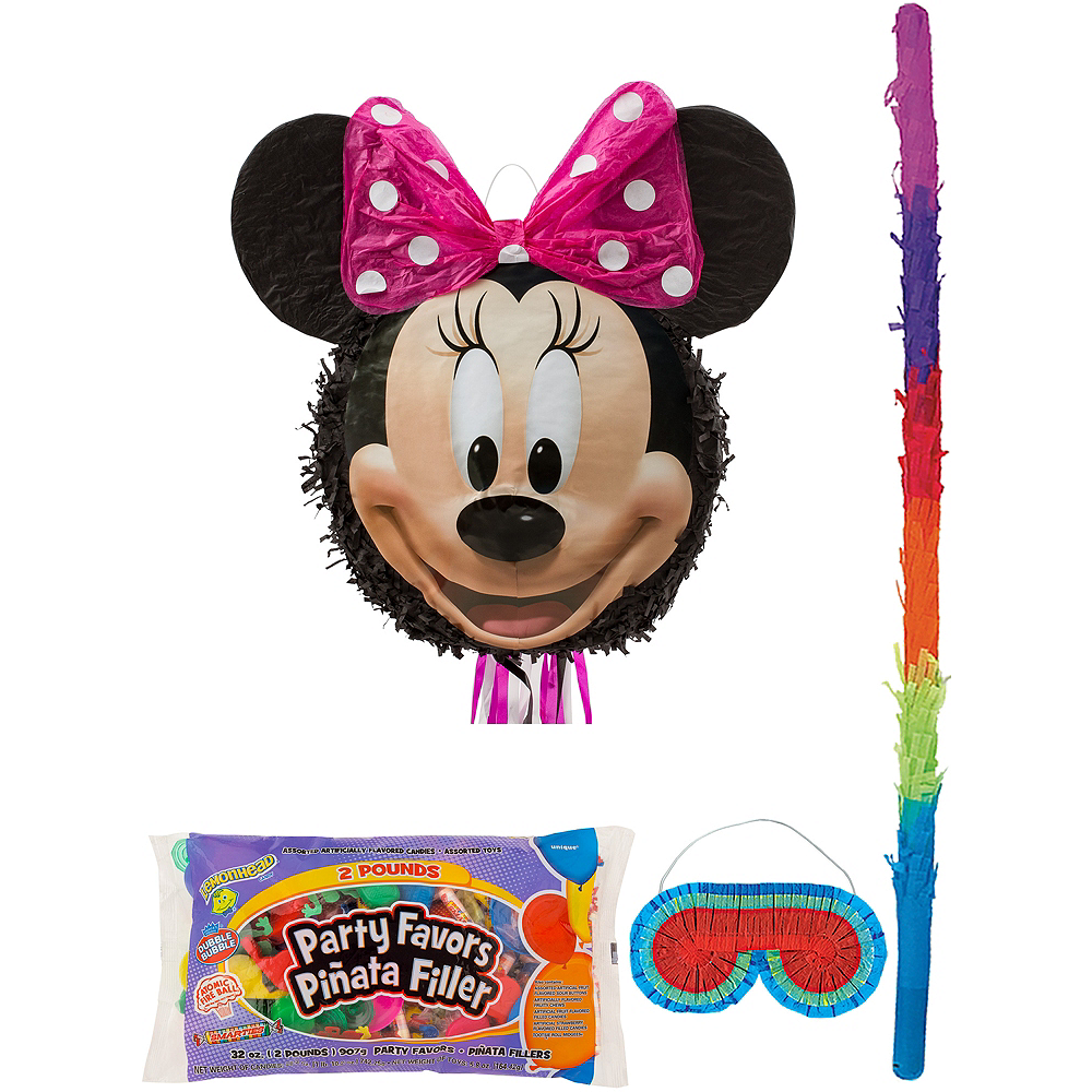 Smiling Minnie Mouse Pinata Kit with Candy & Favors Image #1
