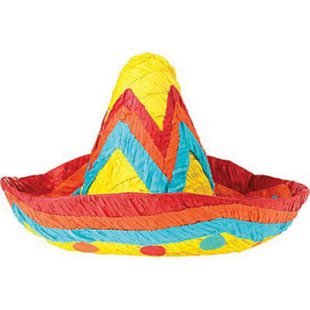 Sombrero Pinata Kit with Candy & Favors Image #2